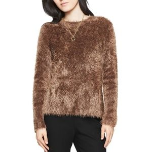 Kate Spade Brown Fuzzy Bow Sweater XS
